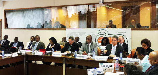 WTO DG addressing ACP Trade Ministers in Brussels on October 21, 2015