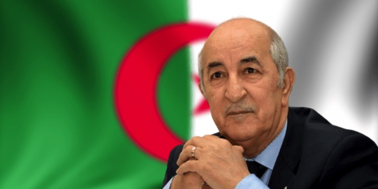 Photo: Algerian President Abdelmadjid Tebboune. Source: SADA ELBALAD.