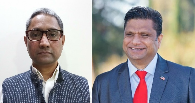 Photo: Manish Uprety F.R.A.S., an ex-diplomat, and Ritesh Tandon, the Republican Party candidate for the US Congress from California's 17th District.