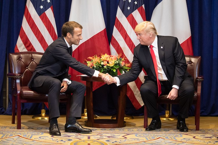 Photo: President Donald Trump and French President Emmanuel Macron in their bilateral discussion on September 24, 2018, at the Lotte New York Palace in New York. Credit: Wikimedia Commons.