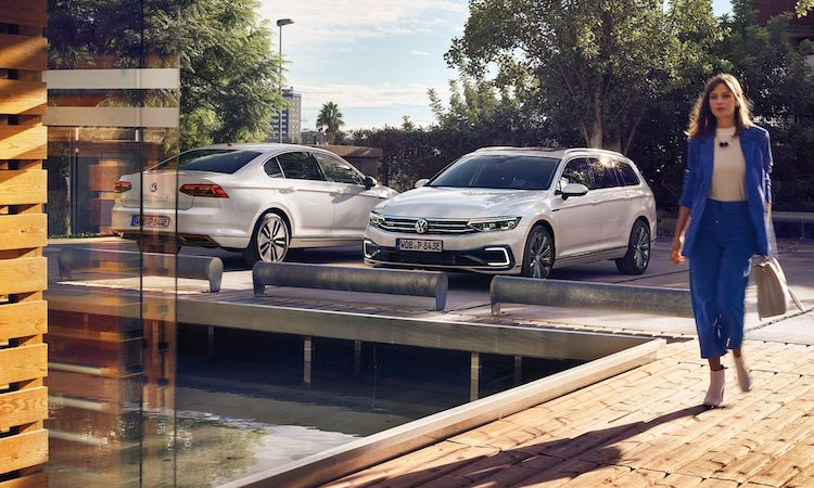 Photo: A new hybrid car model. Credit: Volkswagen.