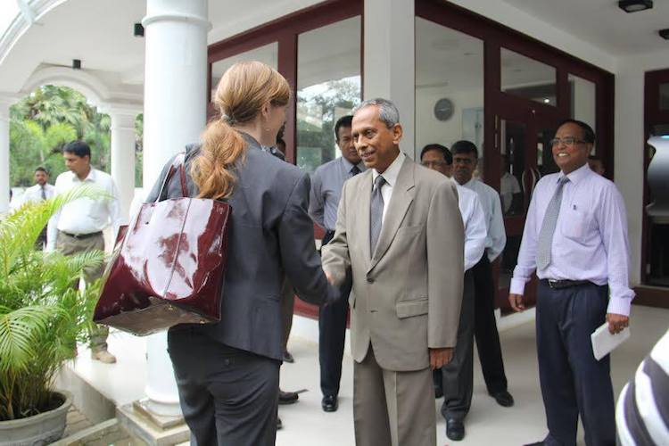 Photo: U.S. Ambassador to the UN Samantha Power meets Northern Province Governor H. M. G. S. Palihakkara at the Governor's Secretariat in Chundikuli, Jaffna, Sri Lanka on 22 November 2015. Credit: Wikimedia Commons.