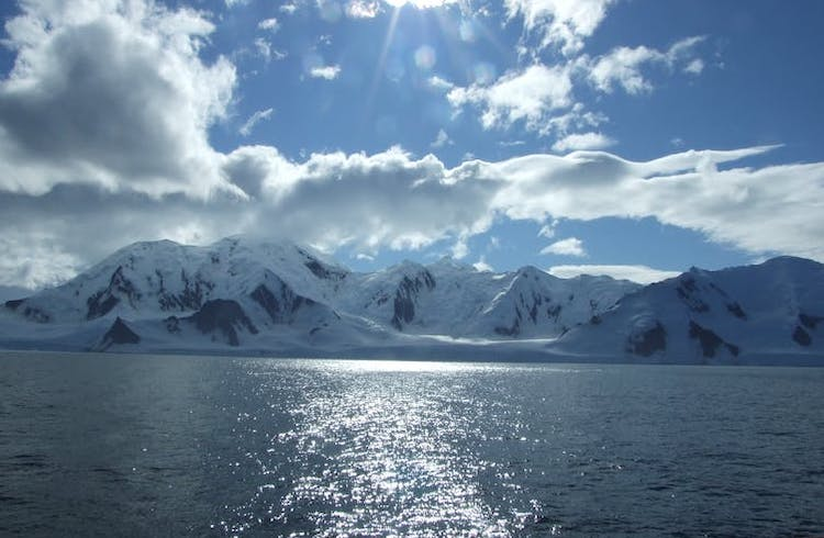 Photo: Antarctic ocean waters are warming dramatically. Credit: Ceridwen Fraser [author provided]