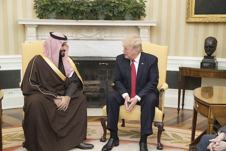 Photo: President Donald Trump with Mohammed bin Salman bin Abdulaziz Al Saud, Deputy Crown Prince of Saudi Arabia, on March 14, 2017, in the Oval Office of the White House in Washington, D.C. Credit: Official White House Photo by Shealah Craighead.