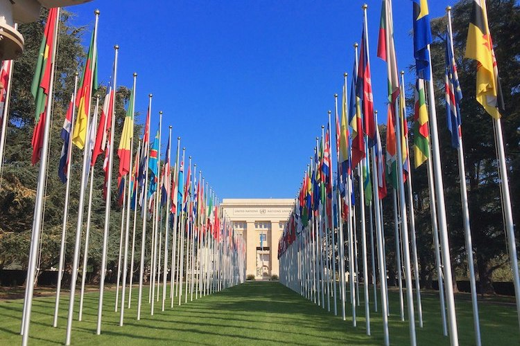 Photo: The Allée des Nations, with the flags of the UN member countries. Credit: CC BY-SA 4.0