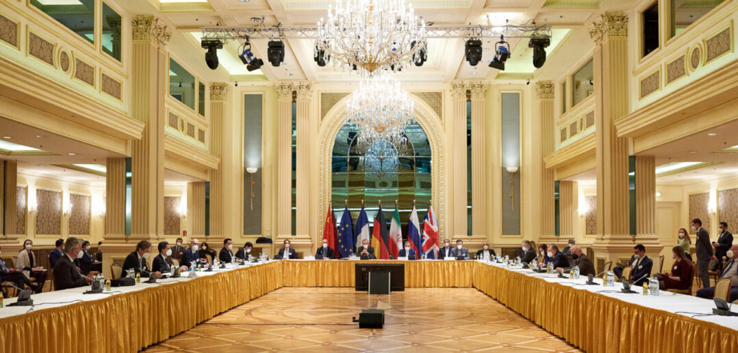 "Photo: The talks in the Joint Commission of the JCOPA in the Austrian  capital on bridging what the US calls ""tremendous and profound differences"" over how to salvage the nuclear agreement. Source: Eureporter."