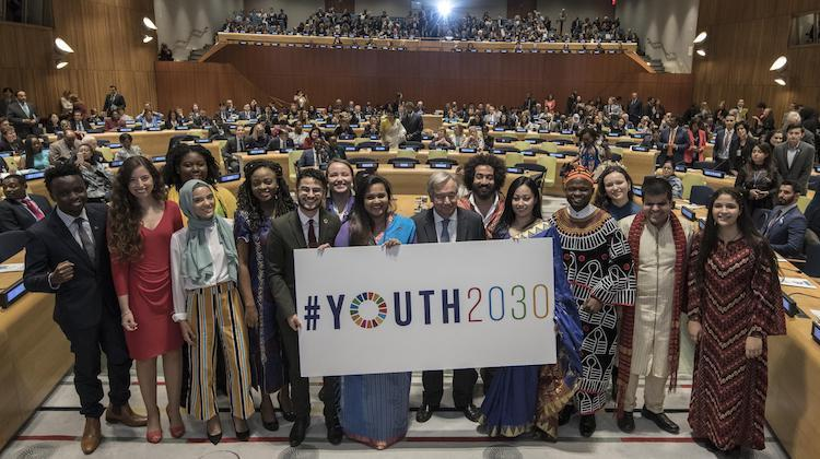 Photo: Secretary-General António Guterres launched Youth 2030, the United Nations Youth Strategy, at a high-level Event held at United Nations Headquarters in New York, 24 September 2018. Credit: Mark Garten/UN Photo ​