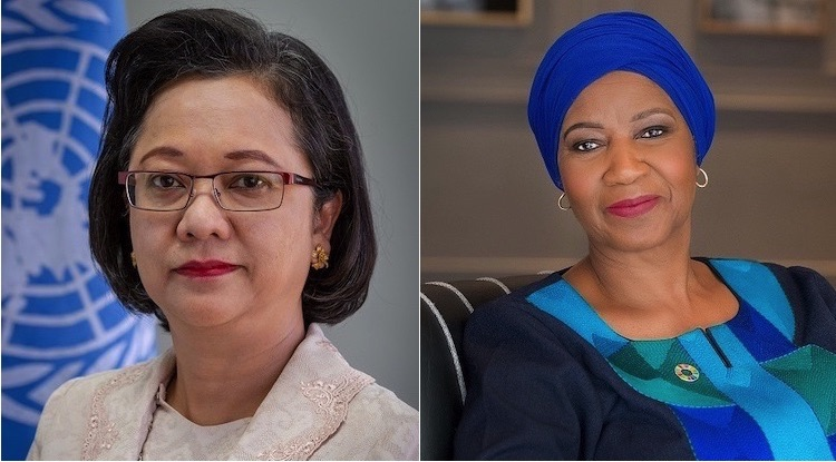 Photo: Collage of portraits of ESCAP Executive Secretary Armida Salsiah Alisjahbana (left) and UN Women Executive Director Phumzile Mlambo-Ngcuka (right). Photos by ESCAP.