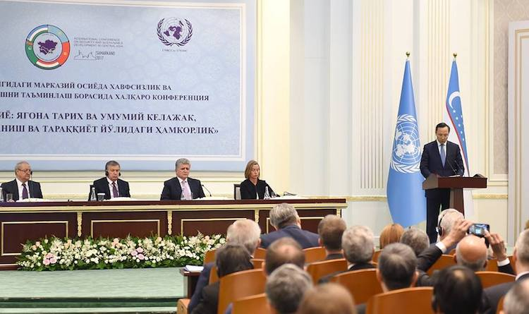 Photo: Kazakh Foreign Minister Kairat Abdrakhmanov addressing a conference on central Asia under UN auspices. Credit: The Astana Times.