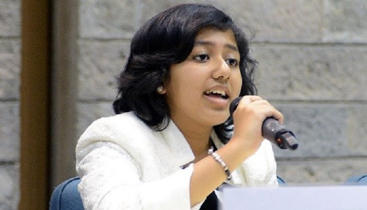 Photo: 18-year-old environmental and children's rights activist Kehkashan Basu, Youth Ambassador of the World Future Council. Credit: World Future Council.