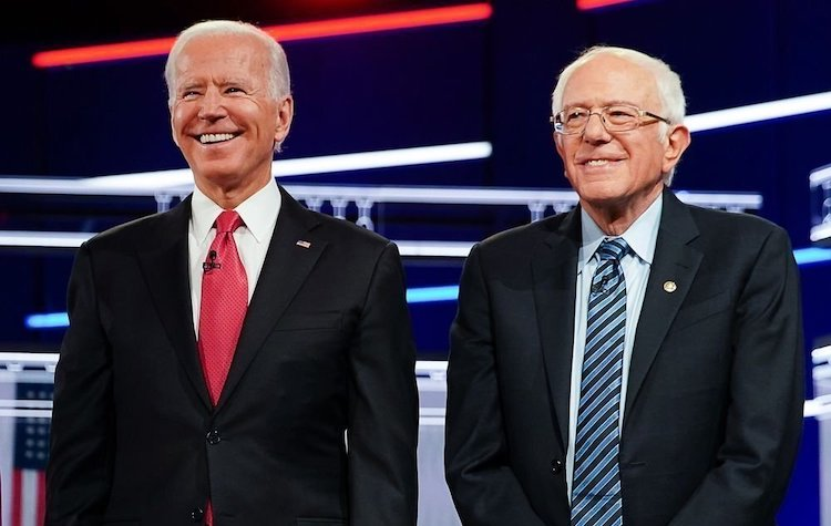 Photo: Joe Biden with Bernie Sanders who has endorsed his presidential candidature. Source: Twitter.