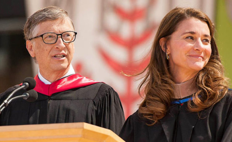 Photo: Bill and Melinda Gates. (File Photo via Facebook / Gates Foundation)