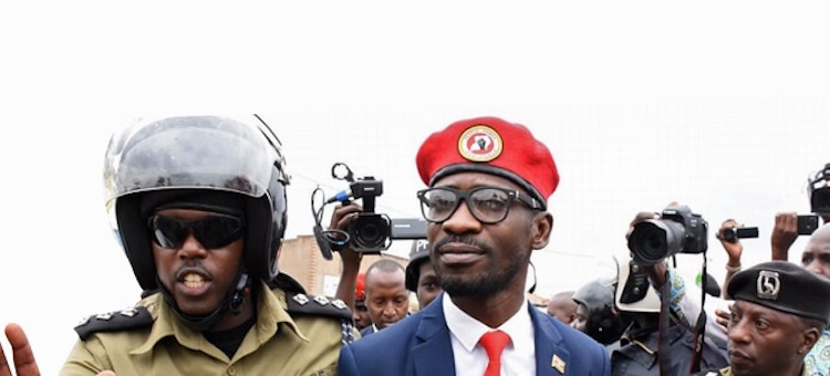 Photo: After the police pouncing on People Power leader Robert Kyagulanyi Sentamu aka Bobi Wine at the start of his countrywide consultations on January 6, his supporters are devising new ways to go past the police. Source: The Independent.