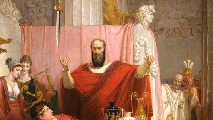 Photo: Sword of Damocles, 1812, oil on canvas. Richard Westall. Ackland Museum, Chapel Hill, North Carolina (Public domain). Source: The Times of Israel.