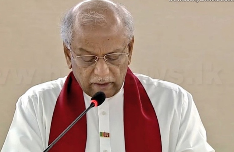 Photo: Sri Lanka Foreign Minister Dinesh Gunawardena addressing the UN Human Rights Council on 26 February. Source: Colombo Telegraph.