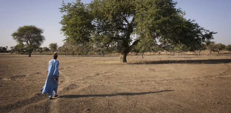Photo: An area that used to be on the edge of Lake Chad. The d/drying_lake_chad.jpg