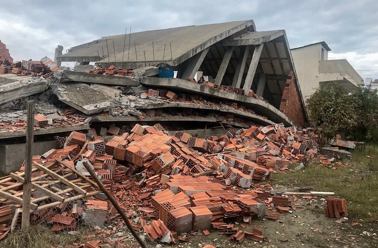 Photo: A 6.4 magnitude earthquake struck Albania the morning of 26 November 2019, killing 51 people. Credit: UNDP