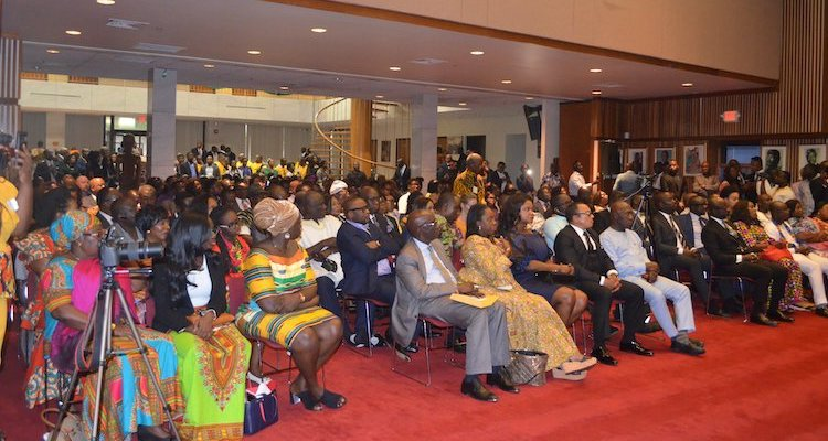 Photo: Town hall Meeting with President Nana Addo Dankwa Akufo-Addo at the Ghana Embassy in Washington, DC. Credit: Ghana Embassy, Washington, DC.