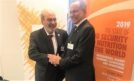 FAO Director-General José Graziano da Silva and ACP SG Dr. P. I. Gomes