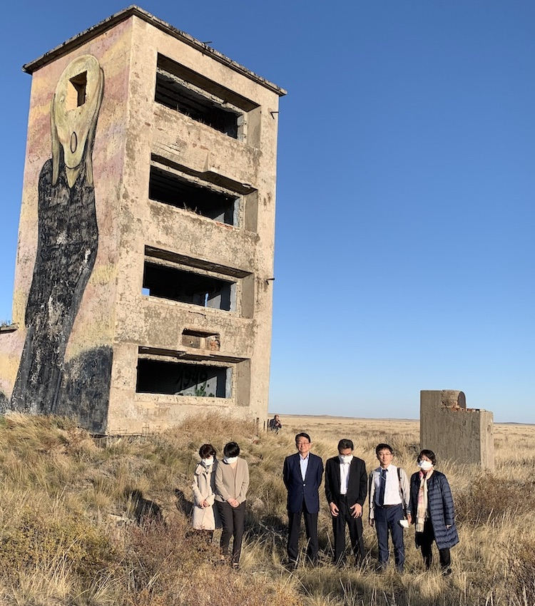 SGI delegation 3km from the ground zero at Semipalatinsk former Nuclear test site.