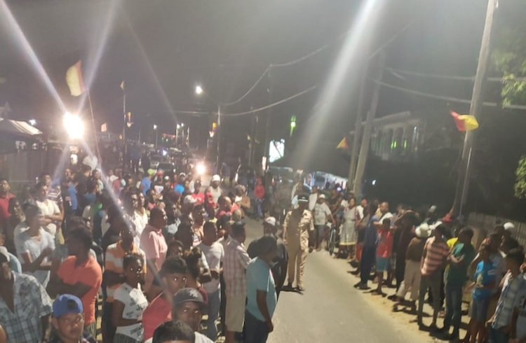 Photo: First unrest in Guyana after announcement of electoral results. Credit: Guyana Standard.