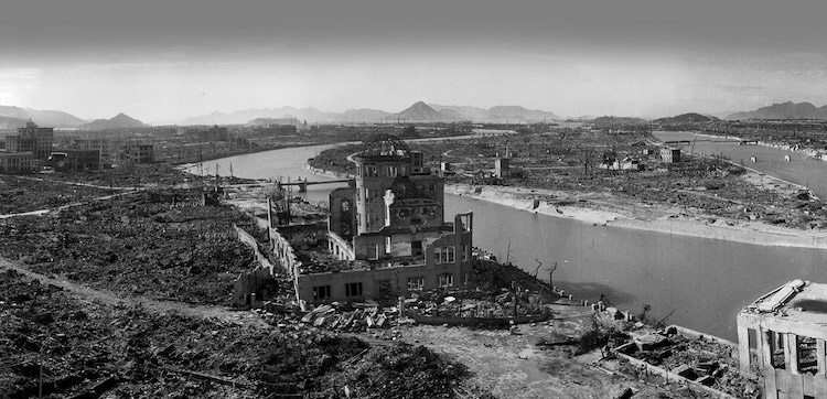 Photo: Hiroshima Ruins, October 5, 1945. Photo by Shigoo Rayashi