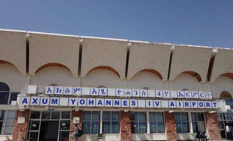Photo: Axum airport in northern Ethiopia, in 2016. According to reports, forces from the Tigray People's Liberation Front have meanwhile destroyed the airport. Credit: Matt Tempest. Source: EU Observer