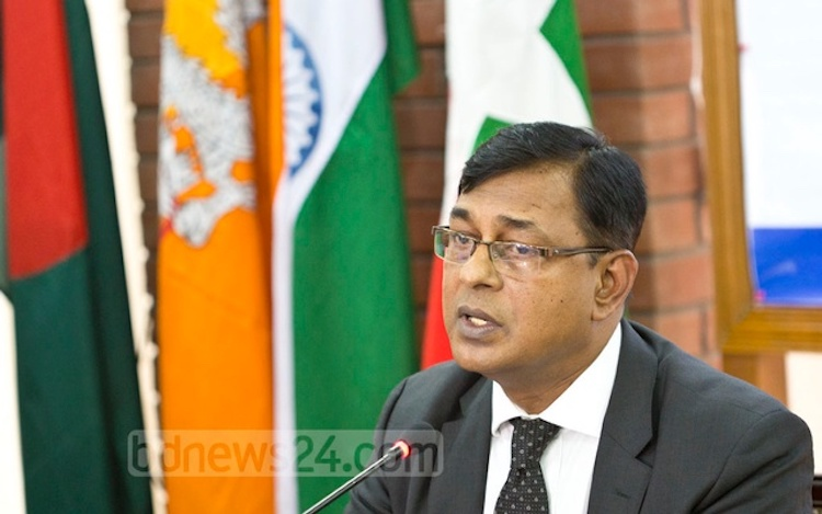 "Photo: Secretary General Shahidul Islam of the BIMSTEC has said member states, including Bangladesh and Myanmar, have shown their ""diplomatic maturity"" by not raising the Rohingya issue at the just-concluded Summit in Kathmandu. Credit: bdnews24.com"