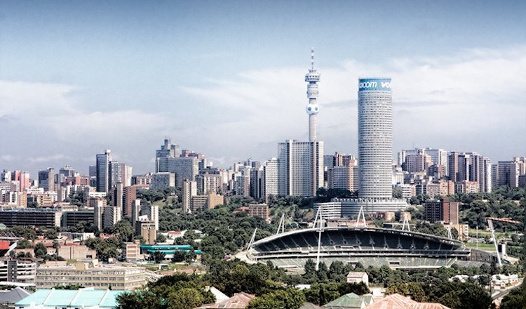 Photo: The skyline of Johannesburg's Central Business District as seen from the observatory of the Carlton Centre. CC BY-SA 3.0