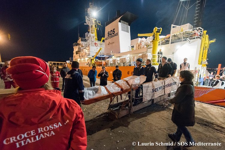 Photo: Numbers of refugees and migrants crossing the Mediterranean may have dropped in 2018, but at a heavy human cost. Source: MSF Sea.