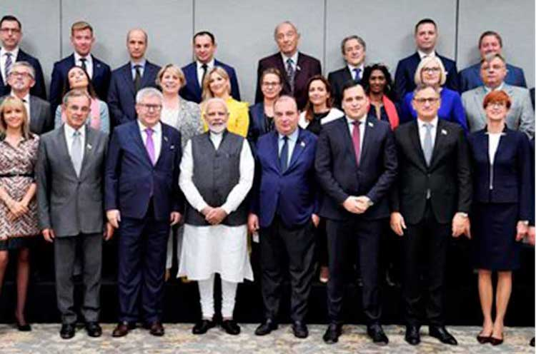Photo: Prime Minister Narendra Modi in New Delhi with European parliamentarians on October 28, 2019. Source: Countercurrents.