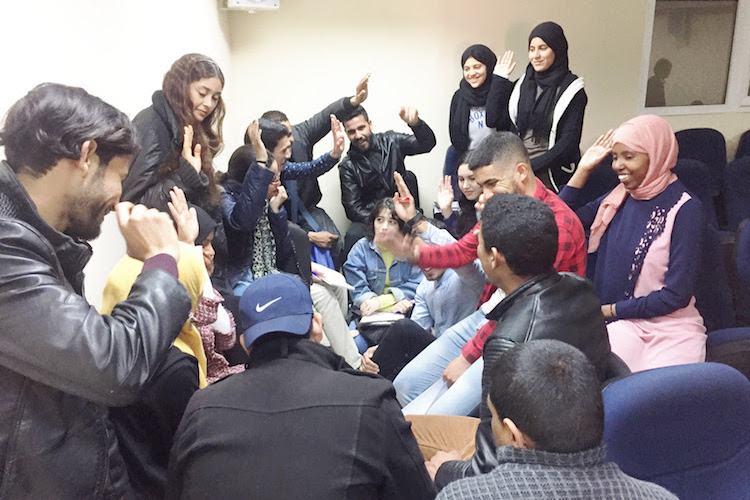 Photo: Students in Marrakech planning change for their university community. Credit: The High Atlas Foundation.