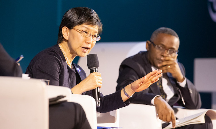"Photo: Izumi Nakamitsu, UN High Representative for Disarmament Affairs (UNODA) addressing the High-Level Panel ""CTBT: Science and Technology in a Changing World"" on 24 June at Hofburg Palace, Vienna, as part of the Science and Technology Conference2019 (SnT2019) 24 June-28 June 2019. Credit: CTBTO"