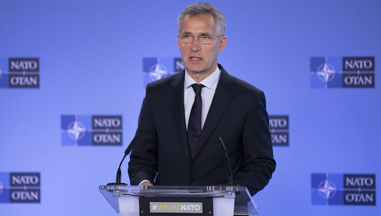 Photo: NATO Secretary General Jens Stoltenberg following the meeting of the NATO-Russia Council at NATO headquarters in Brussels. Source: NATO website.