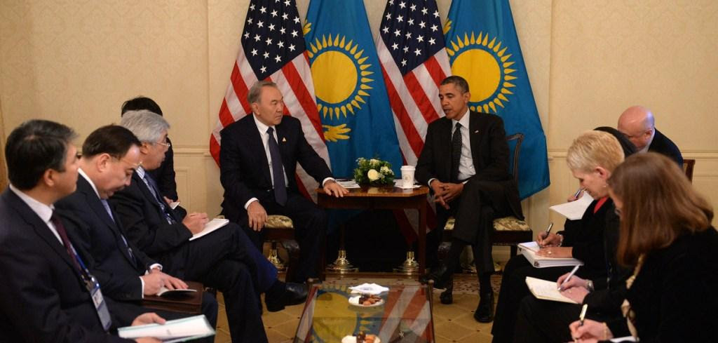 Presidents Nazarbayev & Obama held a bilateral meeting on the sidelines of the 2014 Nuclear Security Summit in The Hague. Credit: Wikimedia Commons