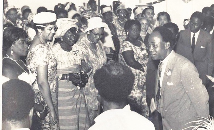 Photo: Ghana's first President, Osagyefo Dr Kwame Nkrumah (right), interacting with Members of Parliament at one of the sittings at the first Session of Parliament in Ghana. Credit: Graphic Online.