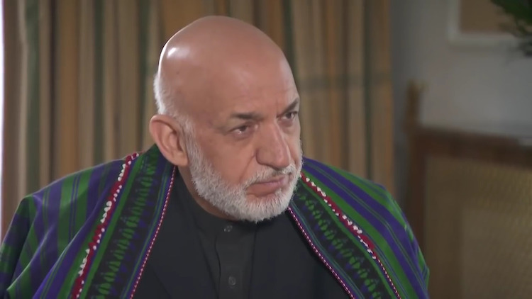 Photo: Snapshot of Hamid Karzai's Interview with NTV Russia. Courtesy: Office of Hamid Karzai.