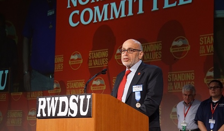 Photo: Stuart Appelbaum, the president of the Retail, Wholesale and Department Store Union (RWDSU). Credit: RWDSU.