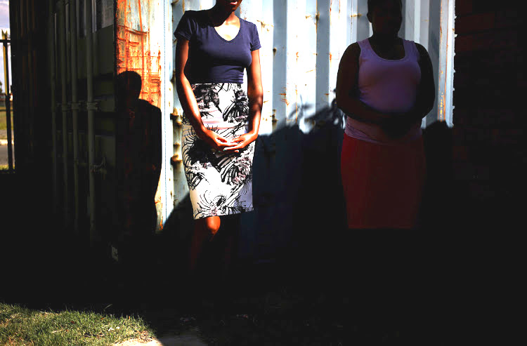 Photo: The picture shows two women from Lesotho trafficked in South Africa. Credit: Sunday Times.