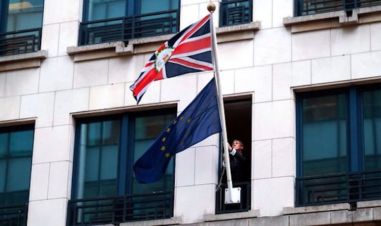 Image: EU flag removed from UK embassy in Brussels in a symbol of Brexit freedom. Source: Video | UK | News | Express.co.uk
