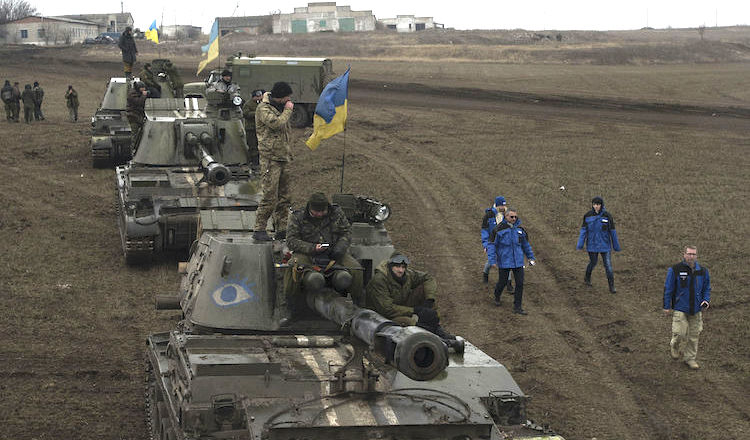 Photo: Ukrainian troops in Donbass, March 2015. CC BY 2.0