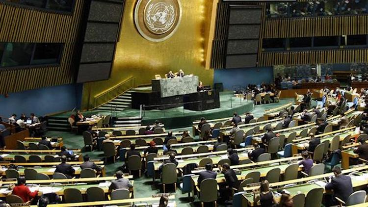 Photo: The file photo shows a view of the Third Committee of the UN General Assembly.