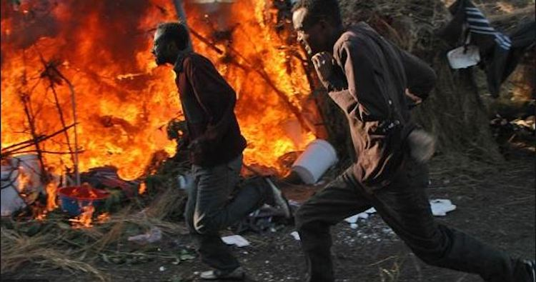 Photo: Xenophobic violence in South Africa. Credit: Standard Digital